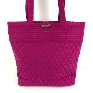 Vera Bradley Tote Bag Fuchsia Microfiber Handbag